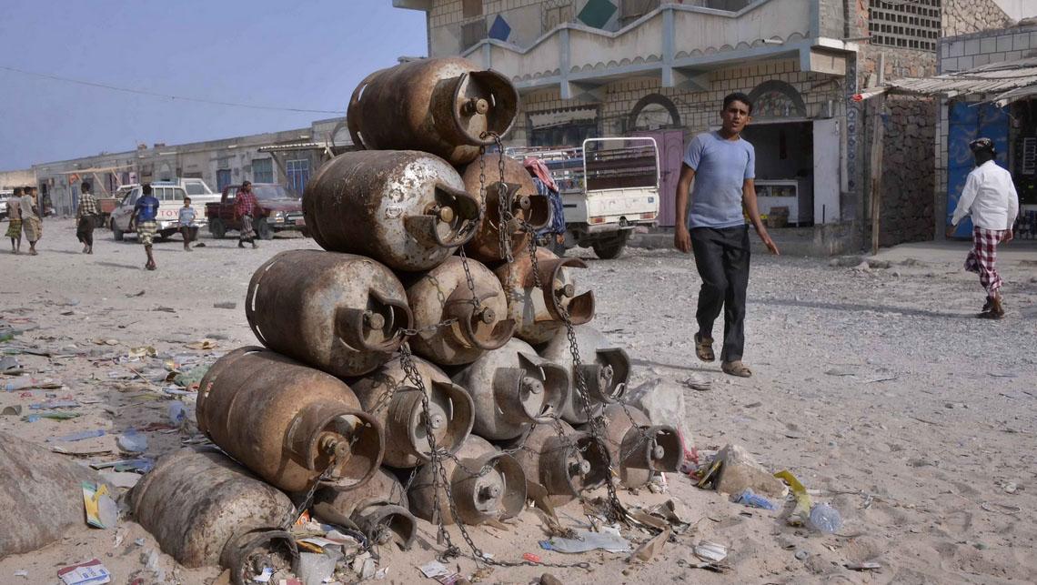 Bouteilles de gaz à Socotra