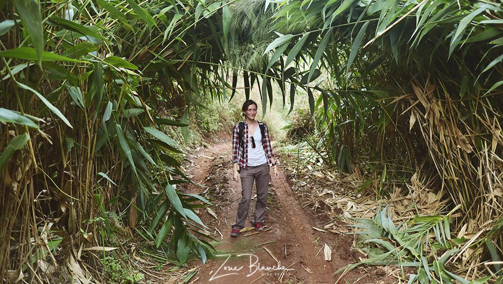 Moi pendant le trek en Thaïlande