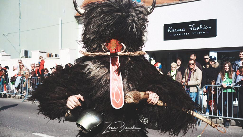 Kurent, carnaval de Ptuj, Slovénie