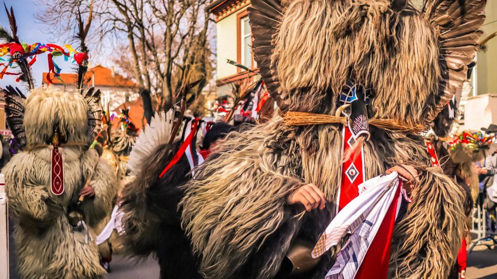 Costume de Kurent en Slovénie
