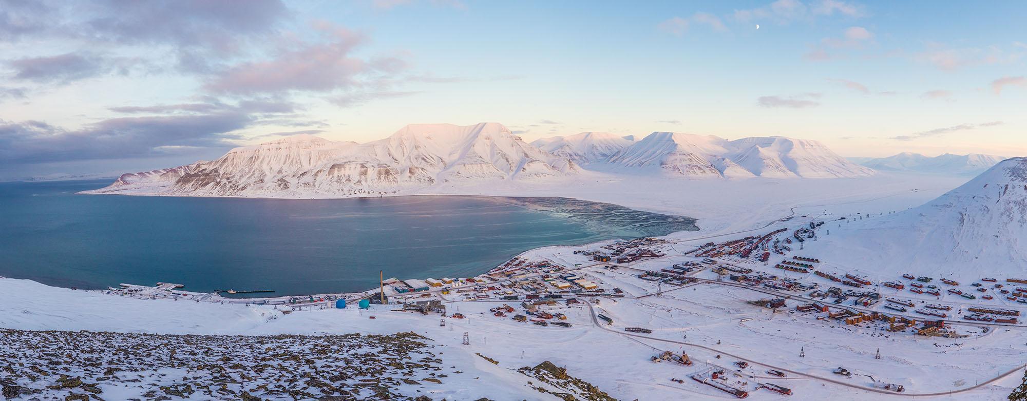 Longyearbyen panorama, Svalbard