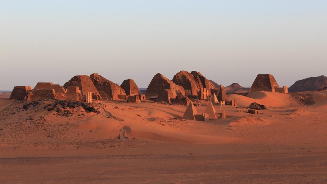 Panorama de Méroé, Soudan