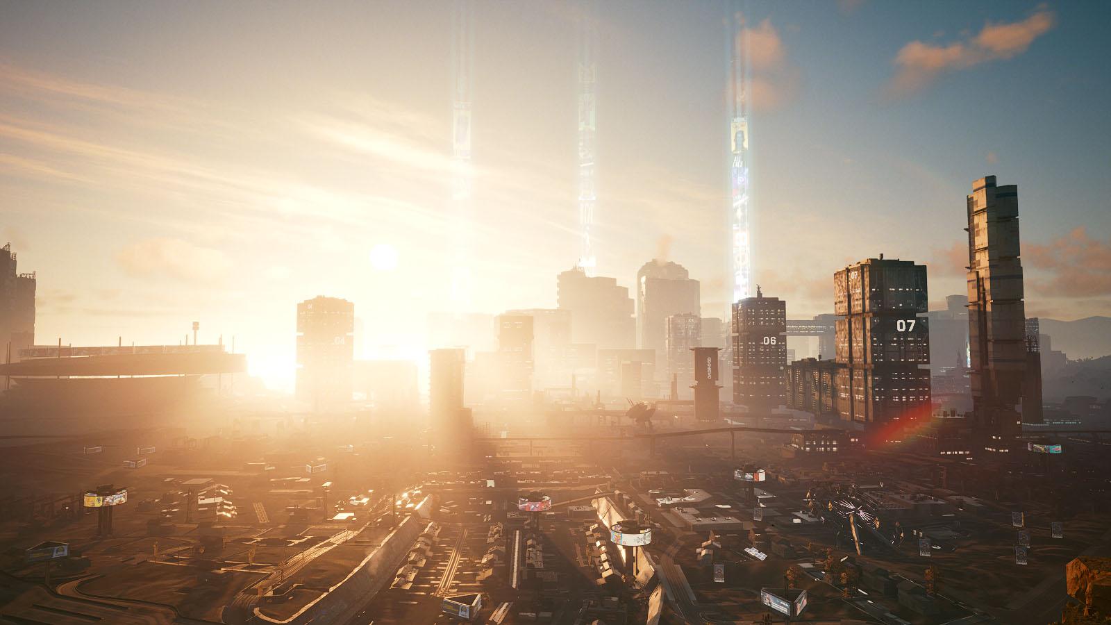 Panorama de Night City