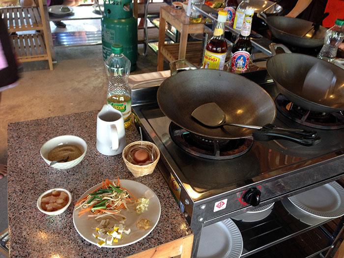 Prête pour cuisiner un Pad Thai !