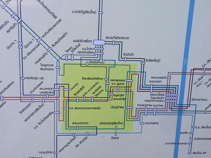Plan de bus thaï, Chiang Mai