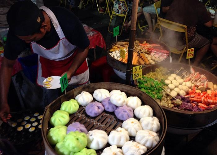Un stand de street-food