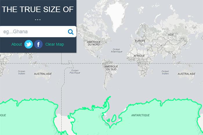 Taille de l'Antarctique