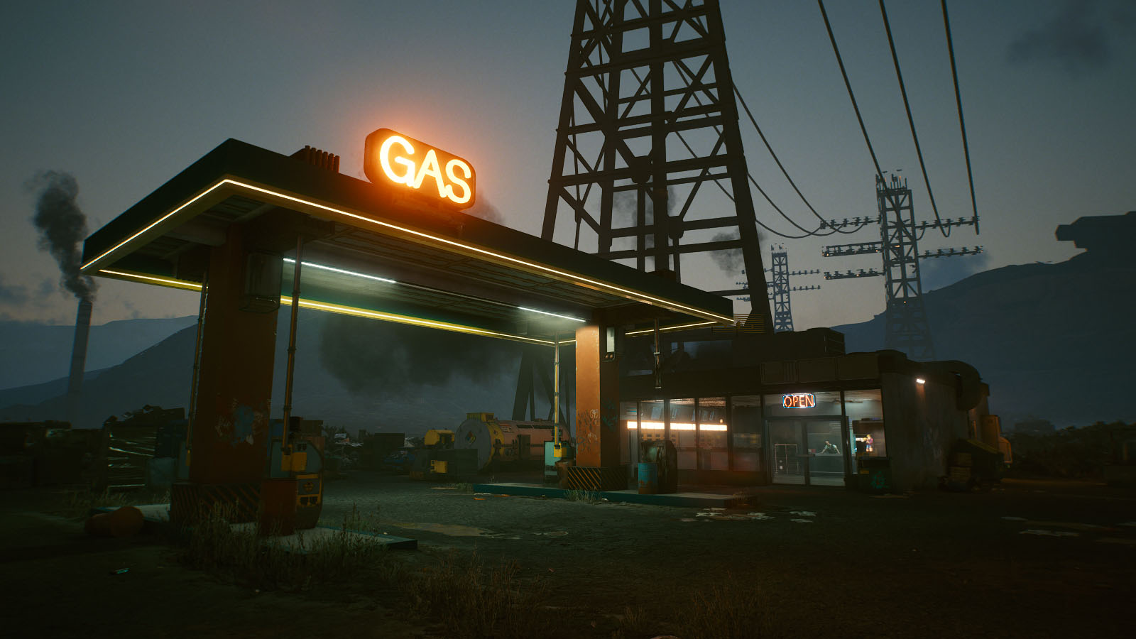 Station essence de Night City