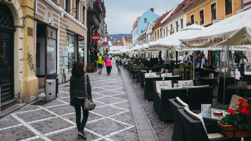 La rue principale de la vieille ville