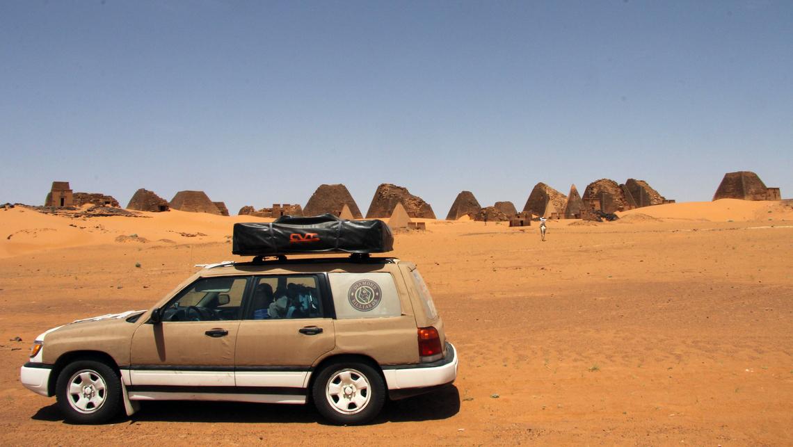 Camping à Méroé, Soudan