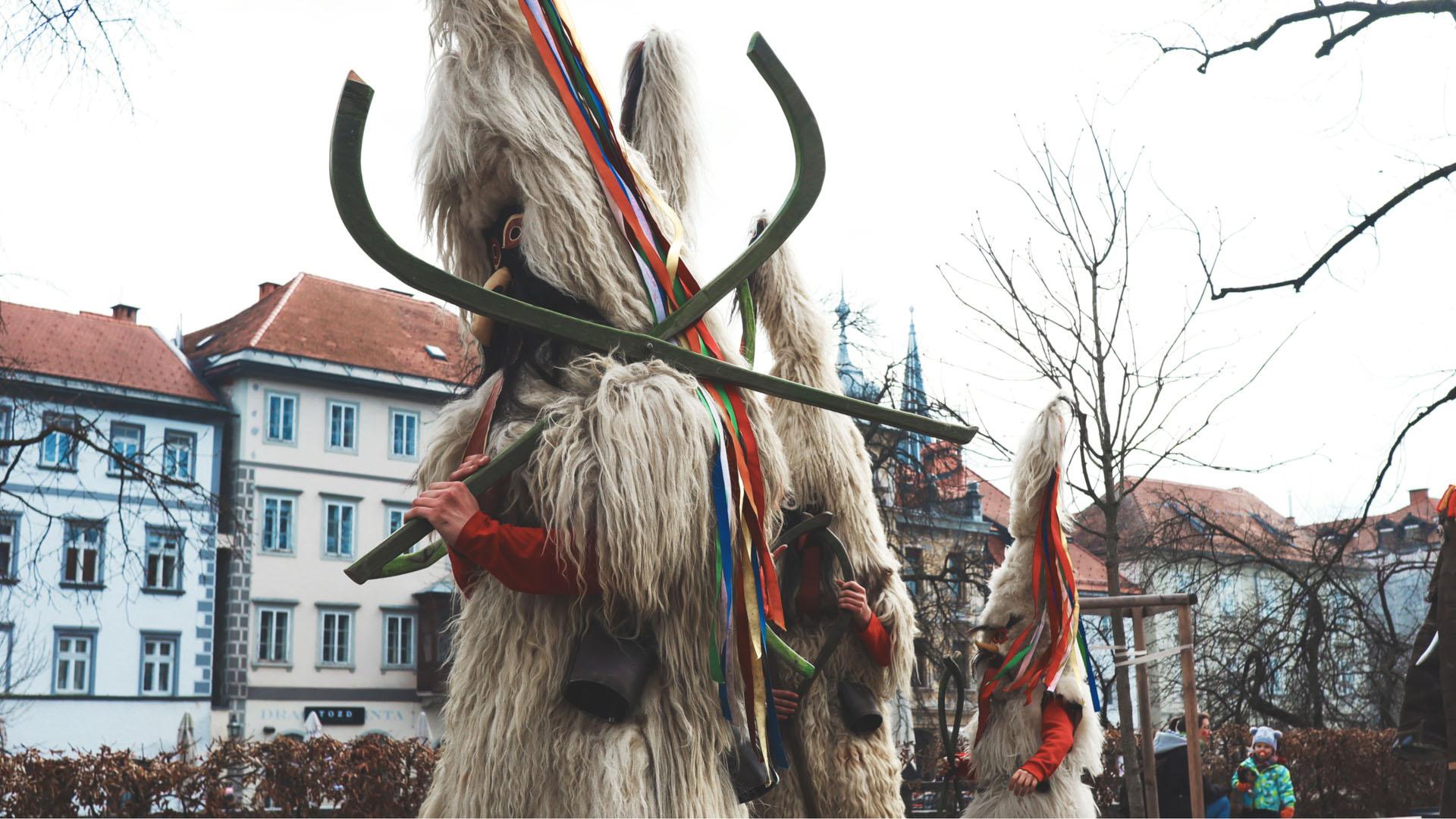 Pinces de Škoromati au carnaval de Ljubljana