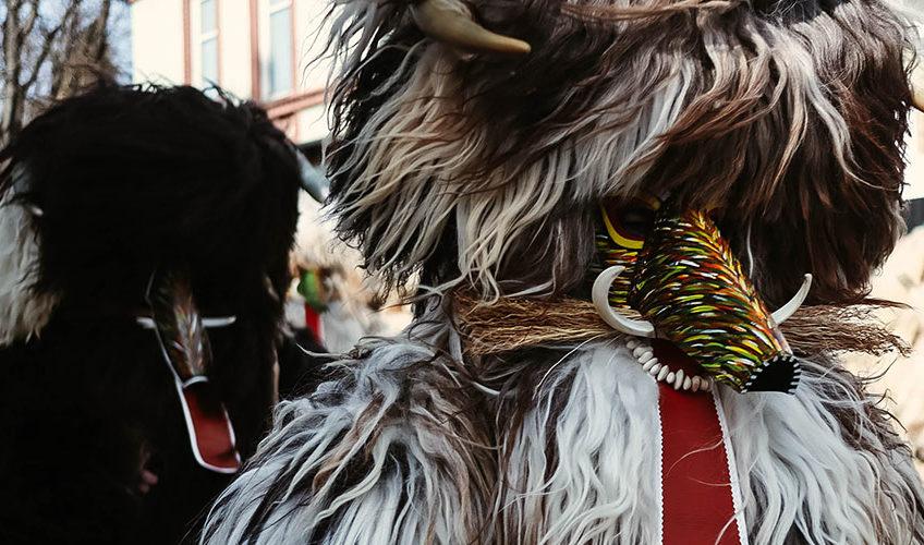 Kurent au carnaval 2019 de Ptuj, Slovénie