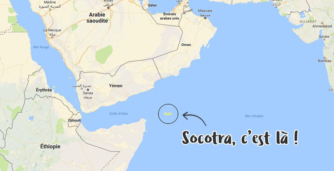 Localisation de Socotra
