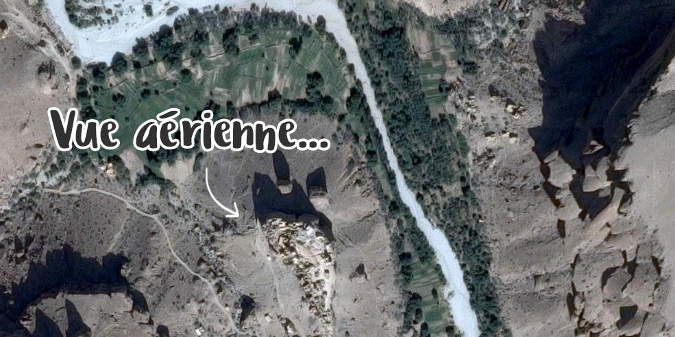 Vue aérienne de Haid Al-Jazil