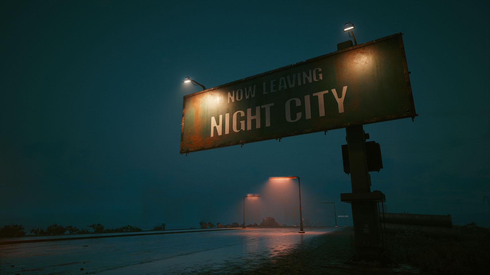 Sortie de Night City