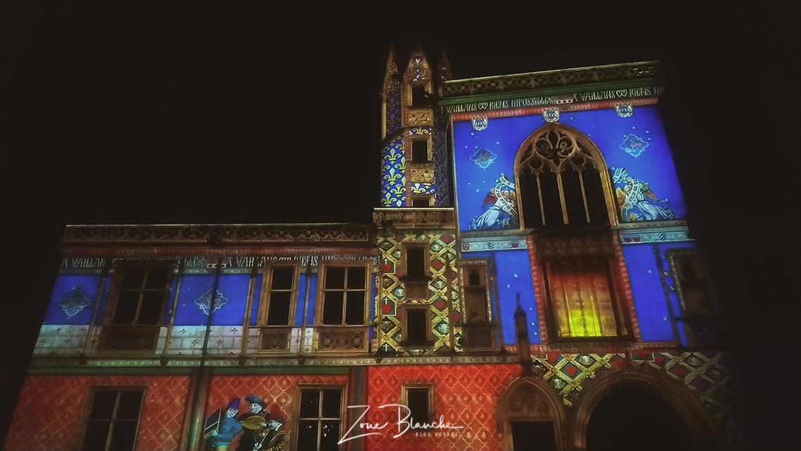 Palais Jacques Coeur pendant les Nuits lumières de Bourges