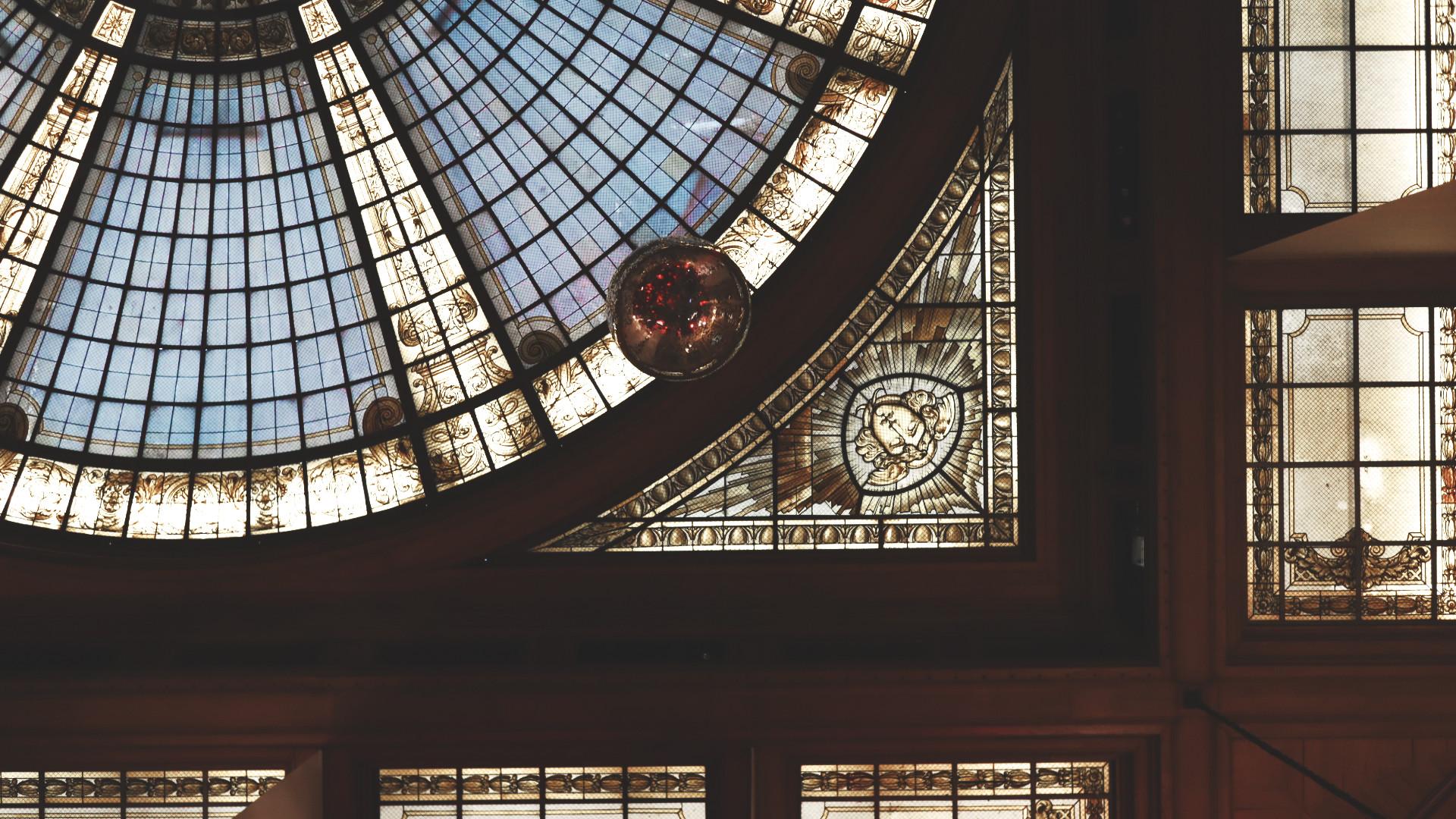 Focus sur la coupole de la Chambre de Commerce de Lille