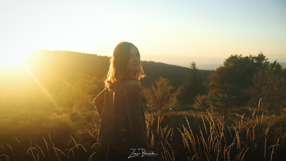 Parc naturel régional du Pilat, coucher de soleil