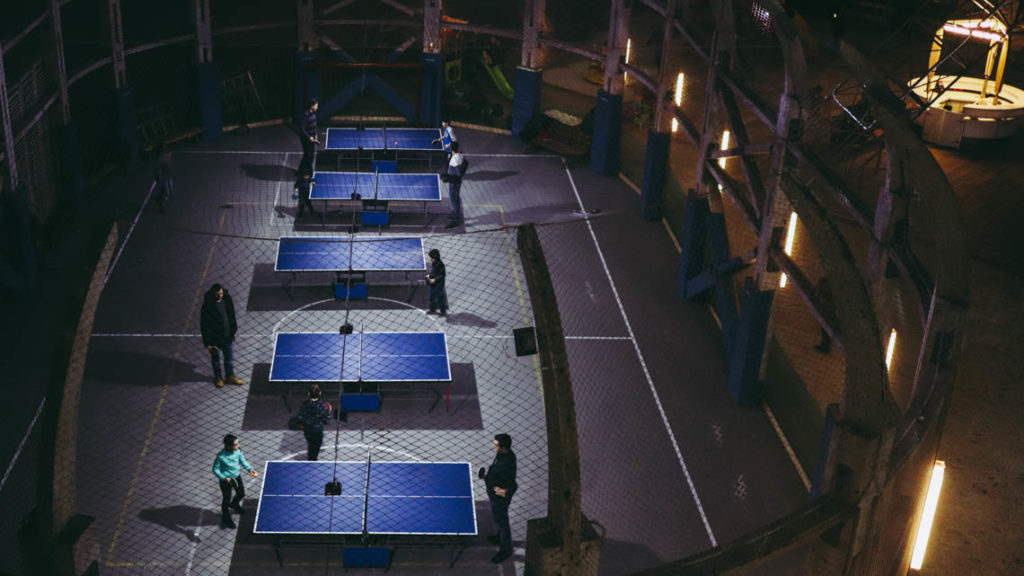 Les tables de ping-pong de la mine Rudolph